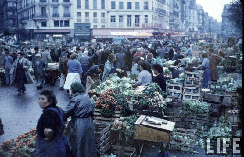 photo les halles paris 1956 life