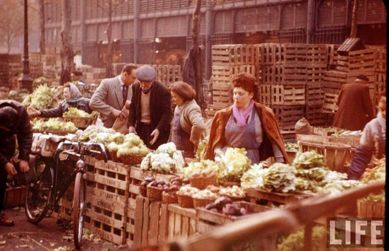photo les halles paris 1956