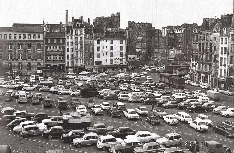 plateau beaubourg vers 1970