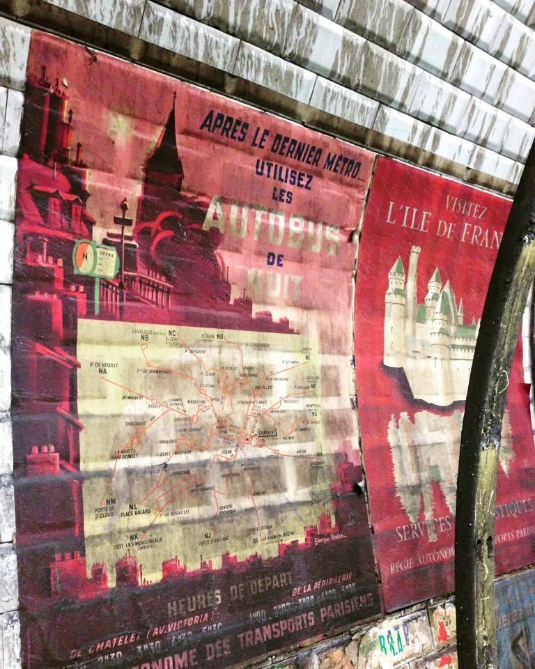 vieilles affiches metro paris annees 50