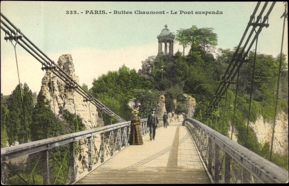 pont suspendu buttes chaumont