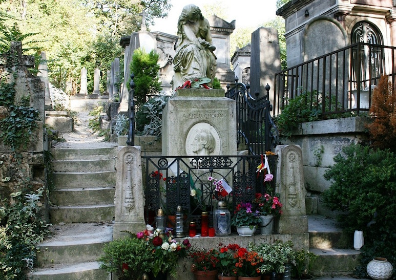 tombe chopin pere lachaise