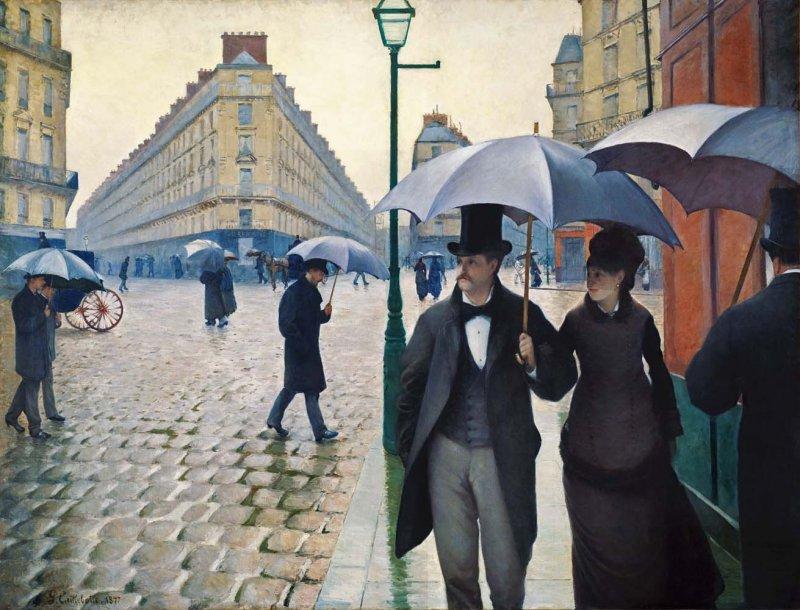 Gustave Caillebotte jour de pluie
