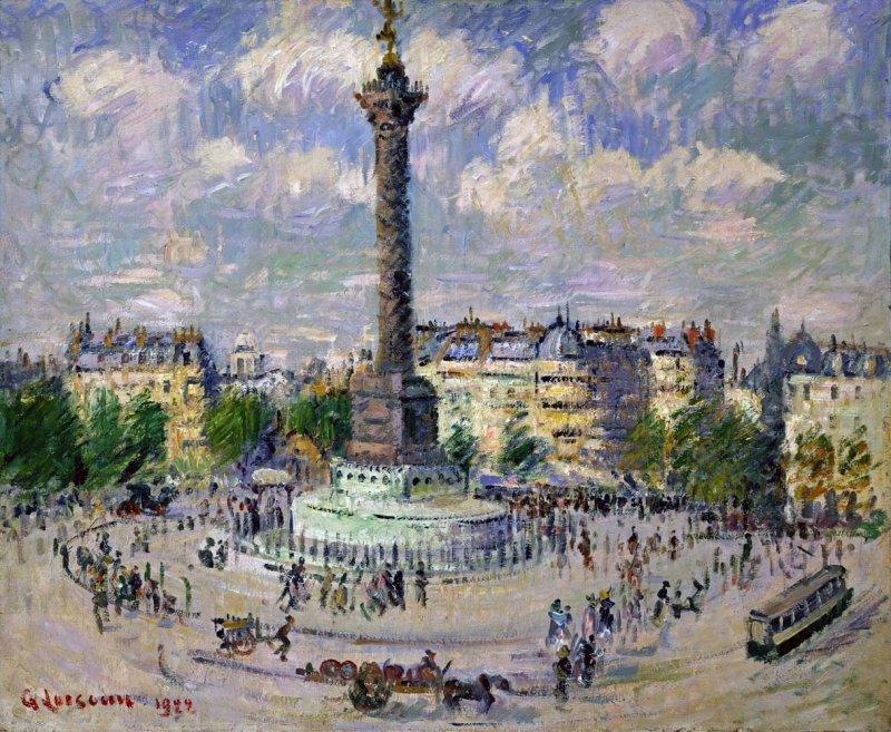 La Place de la Bastille Gustave Loiseau