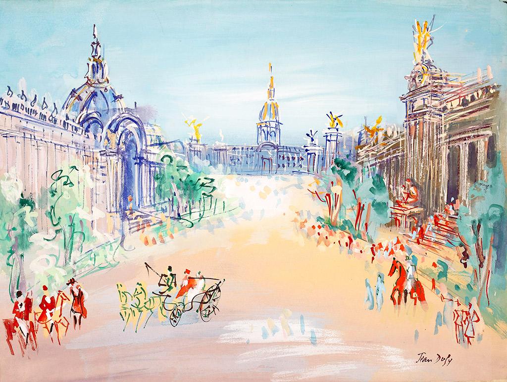 Le Grand Palais et le Petit Palais jean dufy