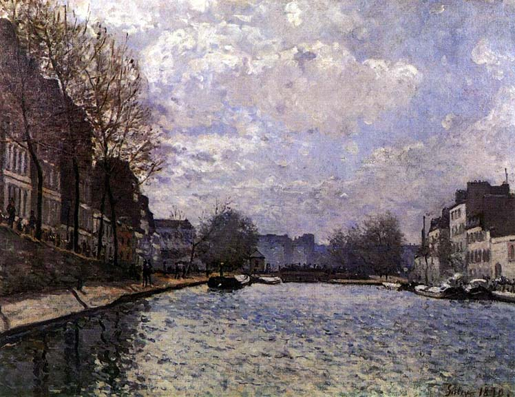 le canal saint martin Alfred Sissley