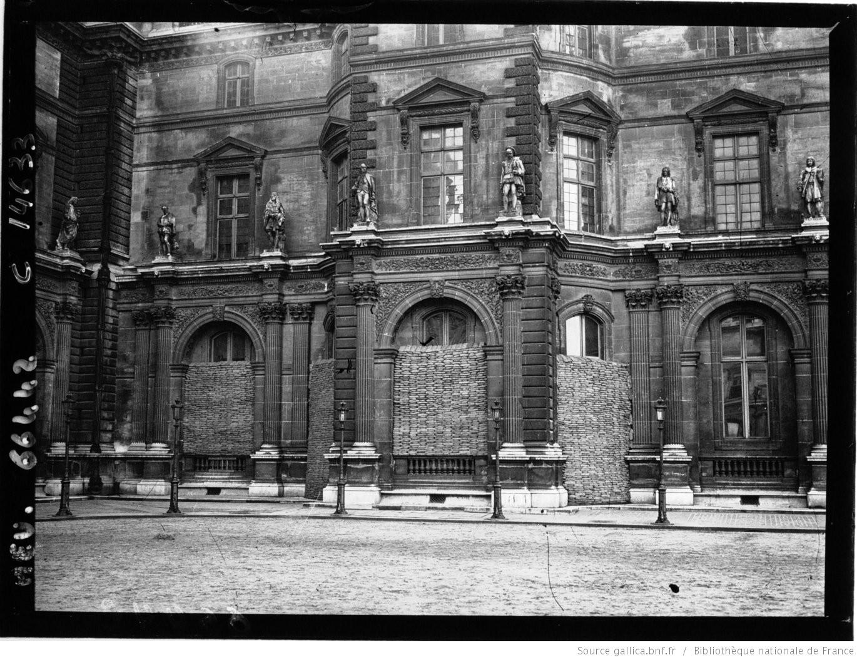 le louvre bombardements paris 1918