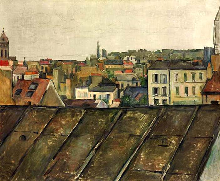 les toits de paris paul cezanne