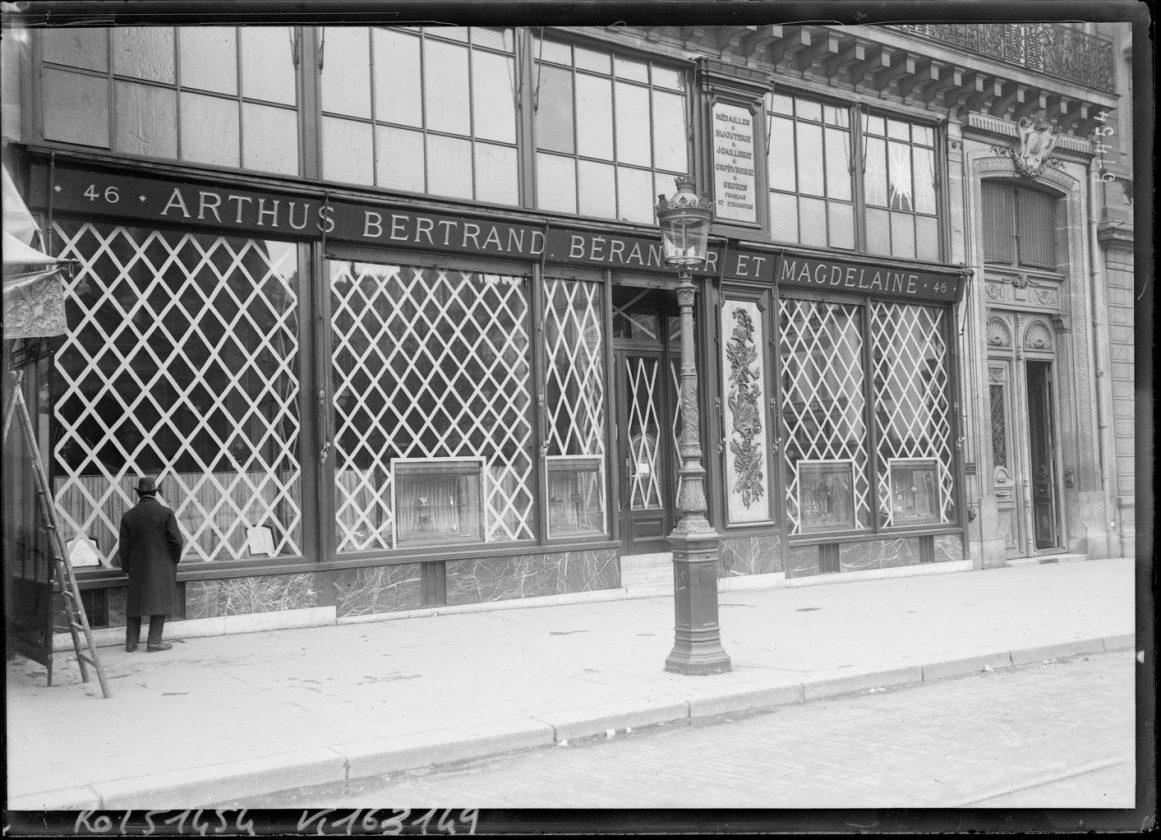 protection vitrine bombardement 1918