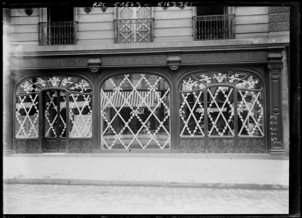 protection vitrine bombardements paris 1918