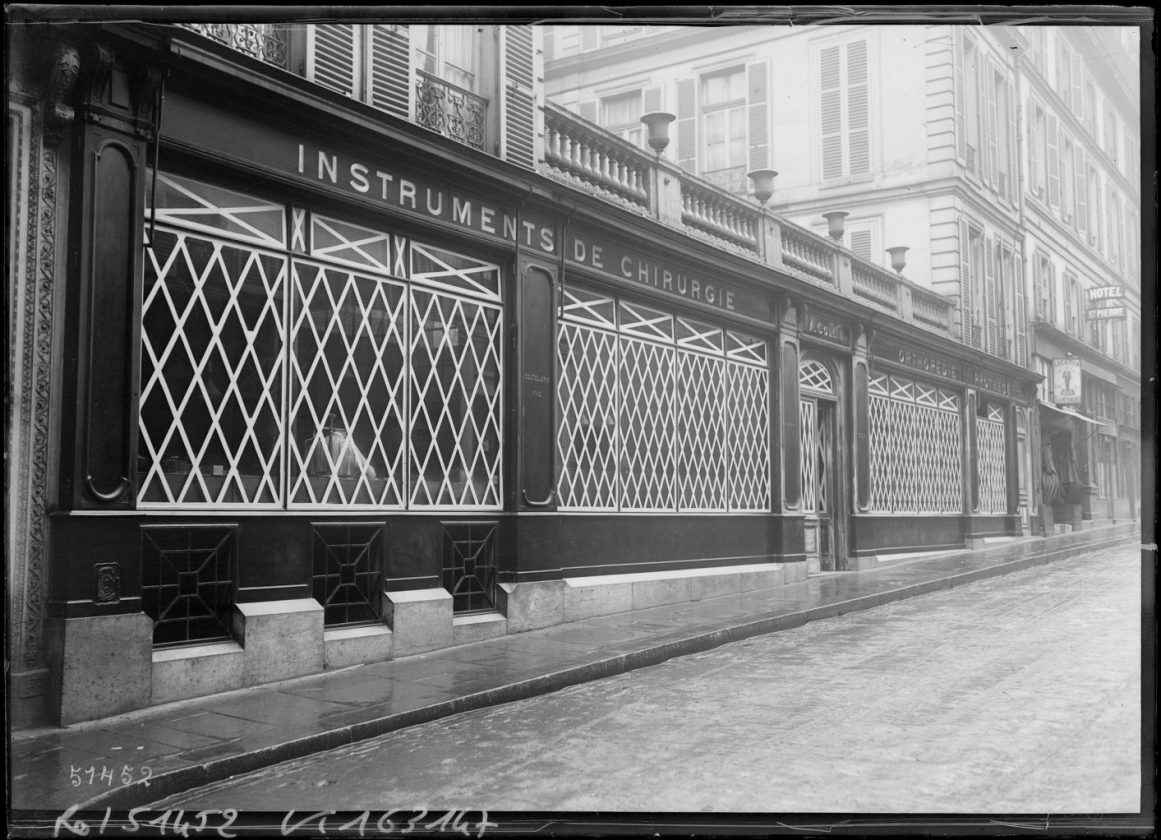protection vitrines paris 1918