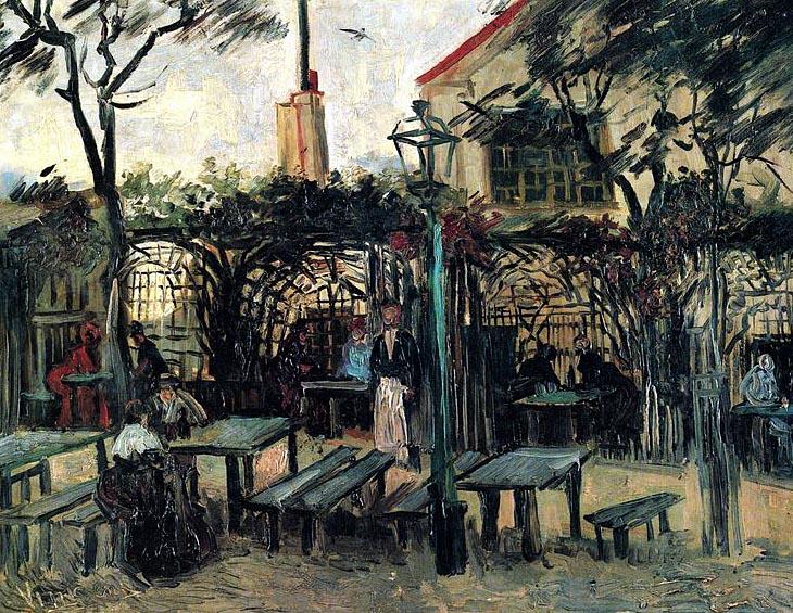 terrasse de cafe a montmartre van gogh