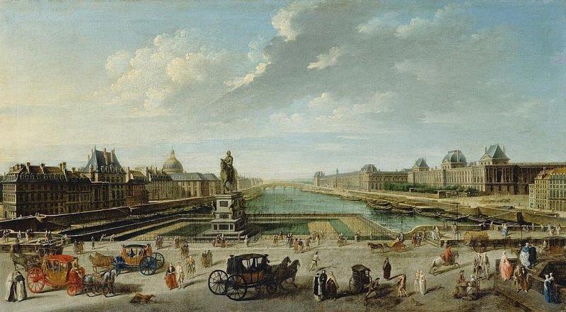 vue du pont neuf Nicolas Jean Baptiste Raguenet