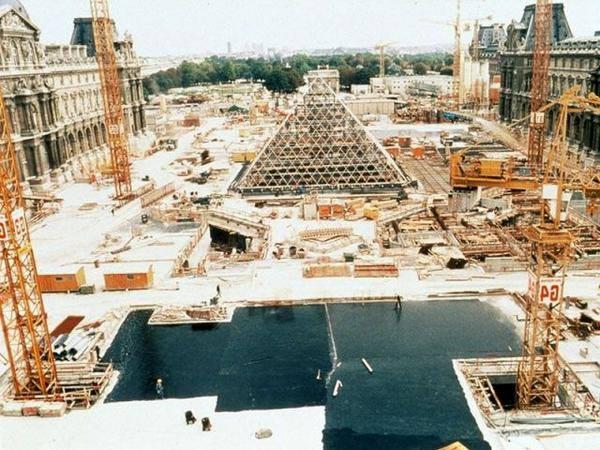 chantier louvre 1988