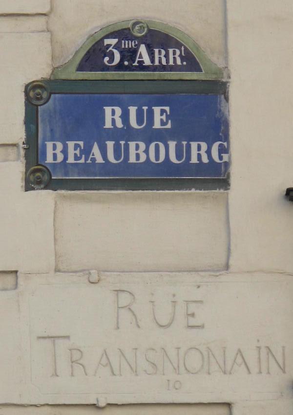 rue beaubourg transnonain