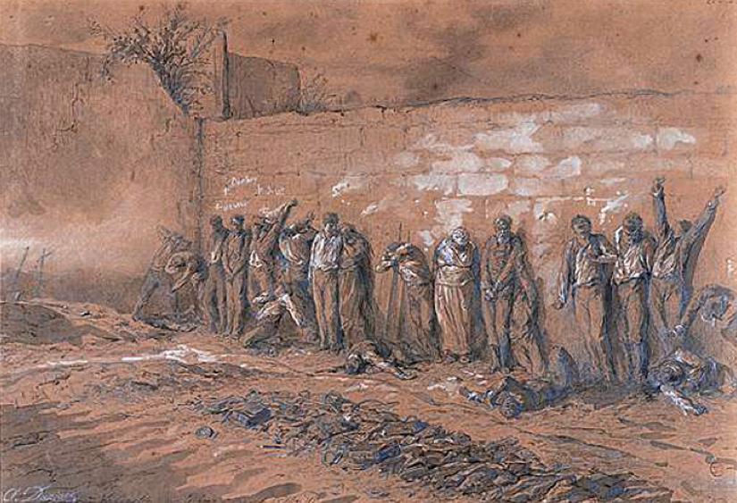 Henri-Alfred Darjou, Exécution des derniers communards au cimetière du Père-Lachaise le 28 mai 1871