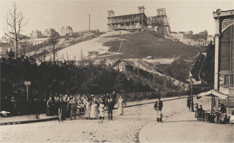 Sacré Coeur en construction 10 mars 1882