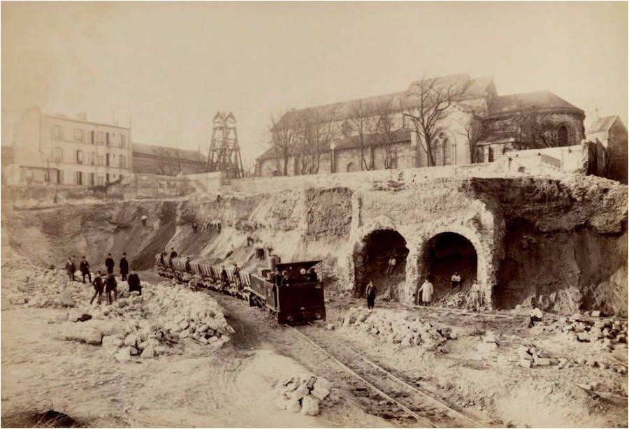 construction du Réservoir de Montmartre 1887 1889