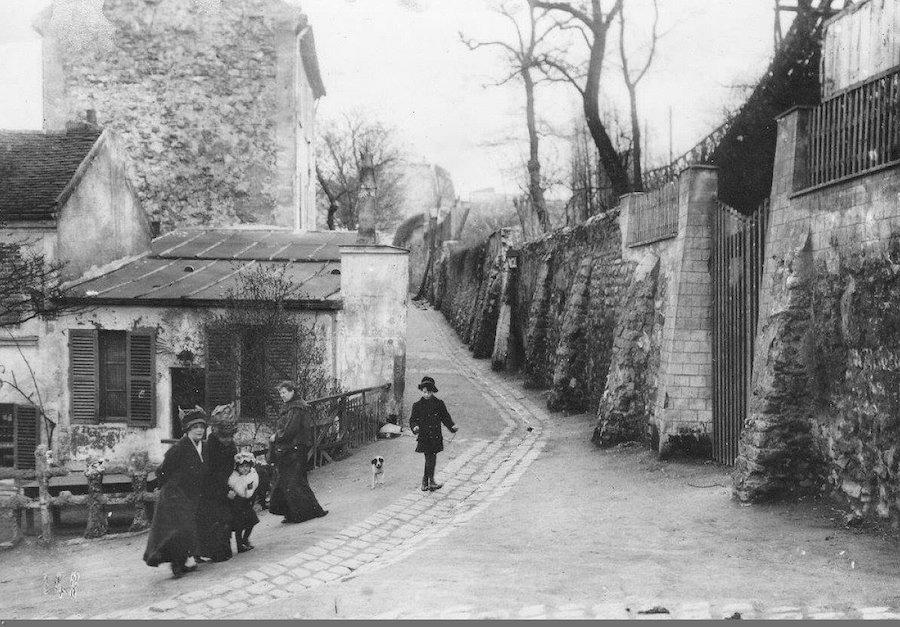 lapin agile et rue Saint Vincent 1900