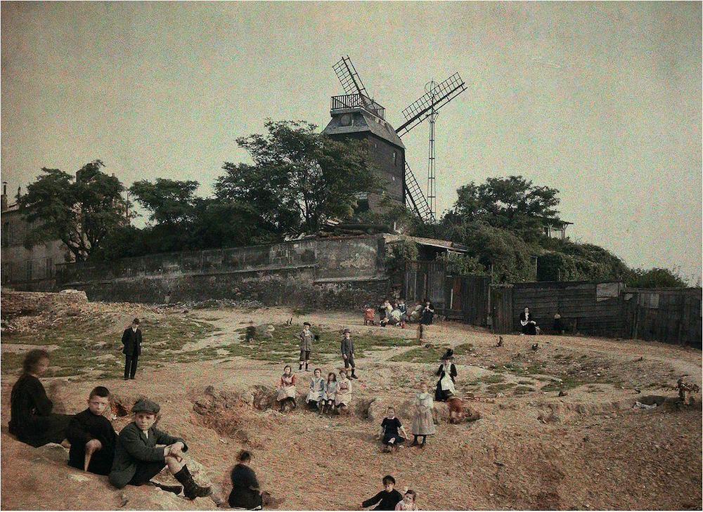 montmartre 1923 vers moulin de la galette
