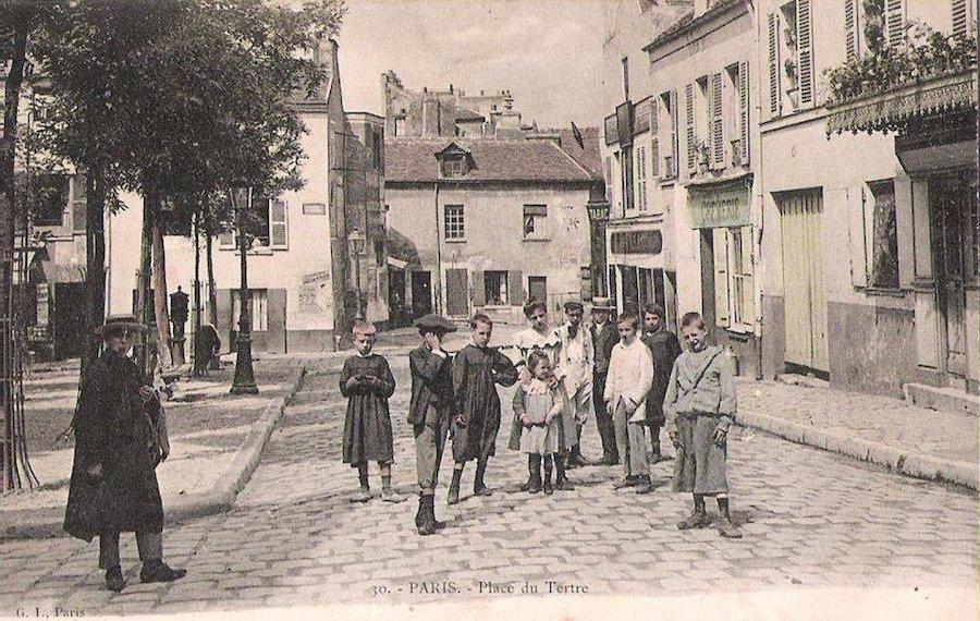 place du tertre 1900