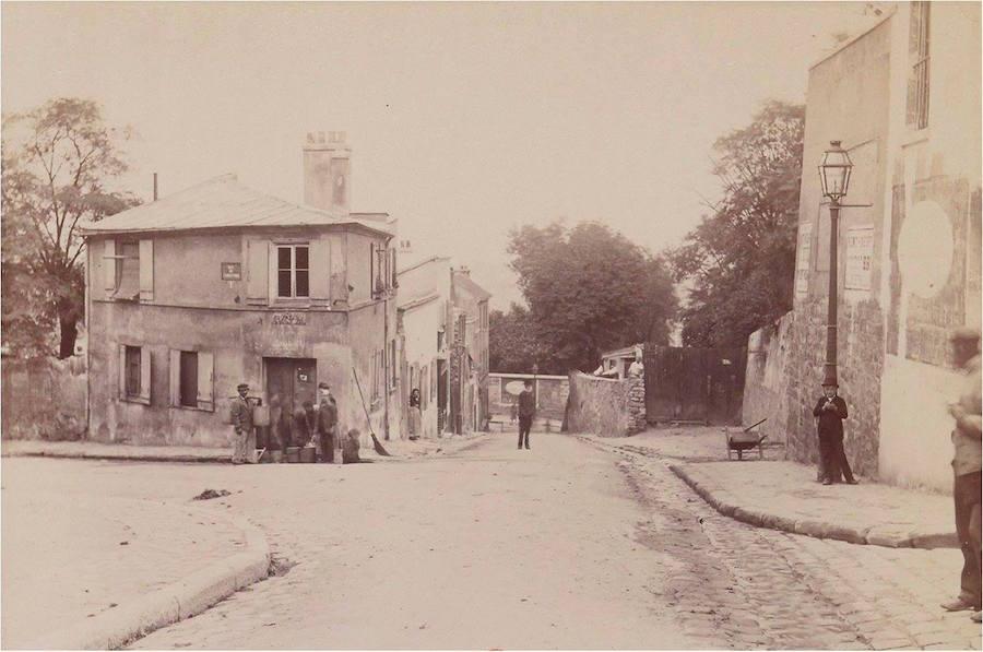 rue des Saules et Maison Rose 1887