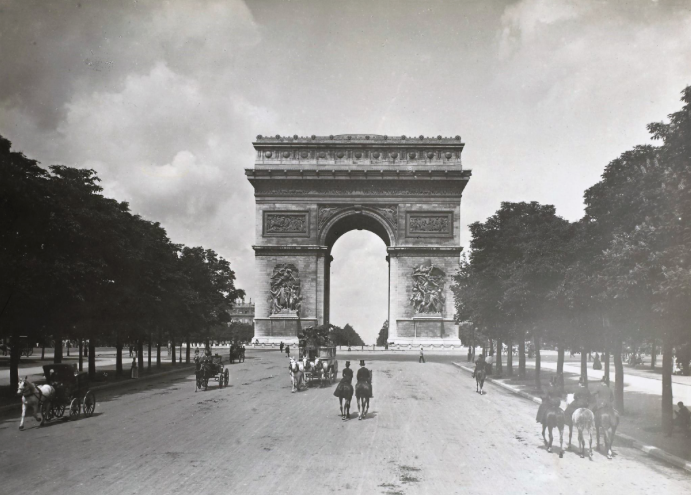 champs elysees 19e siecle