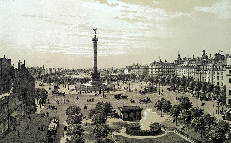 place de la bastille 1878