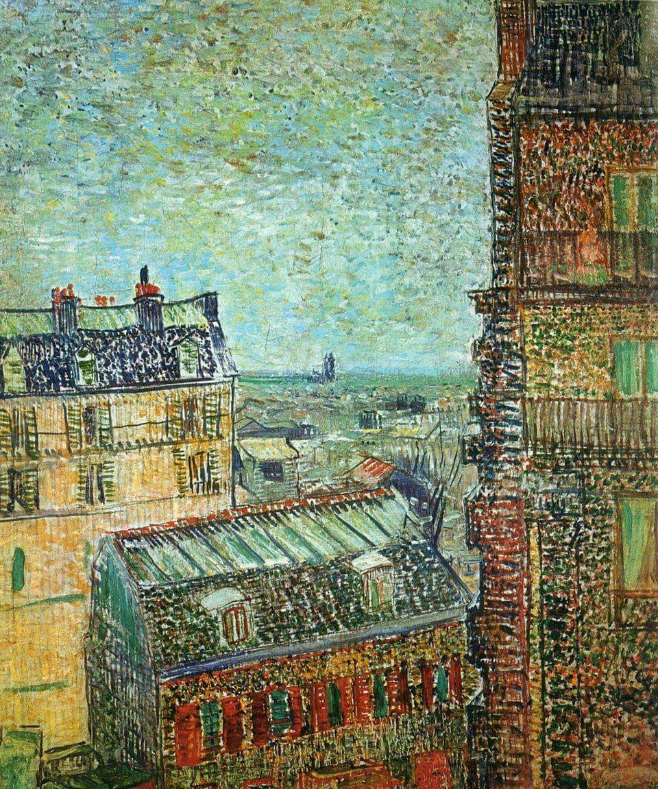 Van Gogh View of Paris from Vincent's Room in the Rue Lepic, 1887.