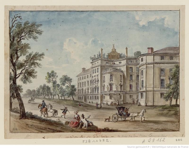 Dessin de l'Hôtel Marin-Delahaye en 1779