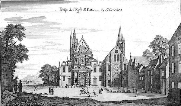 L'abbaye Sainte-Genevieve et l'église Saint-Etienne-du-Mont
