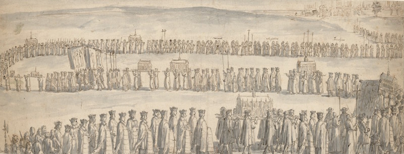Procession de la châsse de sainte Geneviève / Bibliothèque Nationale de France