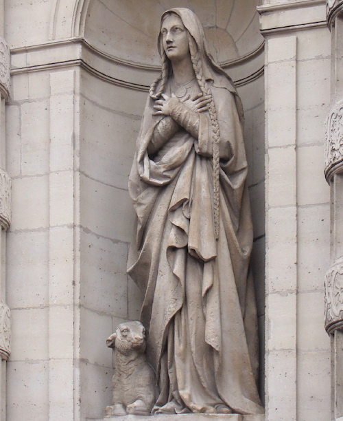 Statue de sainte Genevieve, église Saint-Étienne-du-Mont