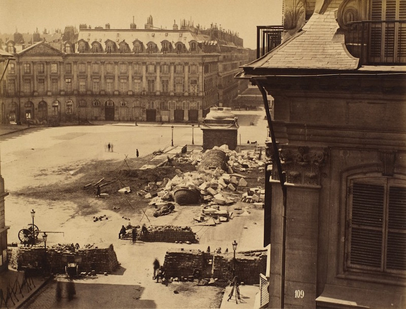 Colonne-Vendôme-1871-Destruction
