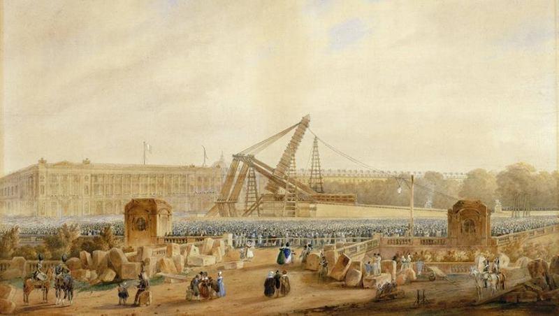 inauguration obelisque concorde octobre 1836