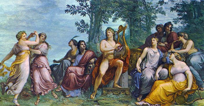 Apollon et les Muses sur le Mont Parnasse