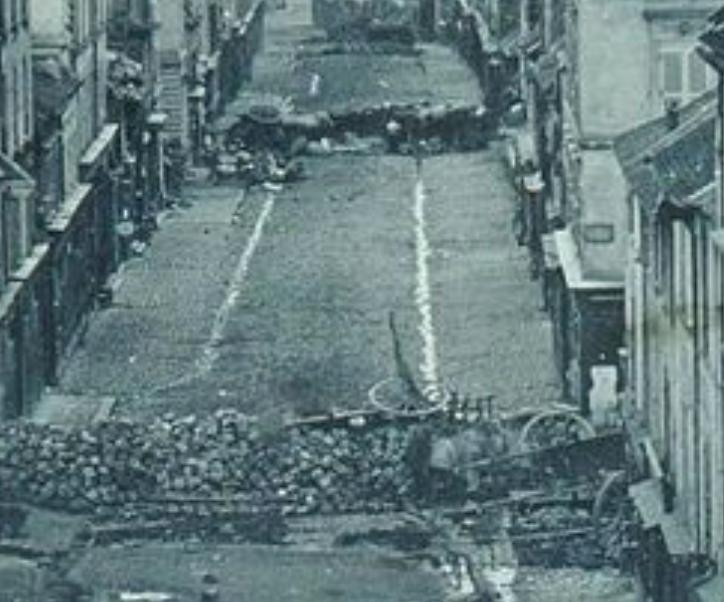 premiere barricade faubourg du temple detail