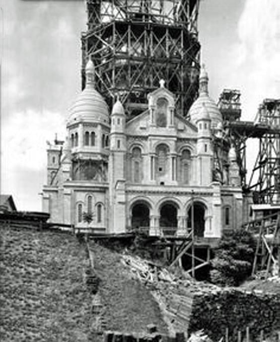construction sacre coeur de montmartre