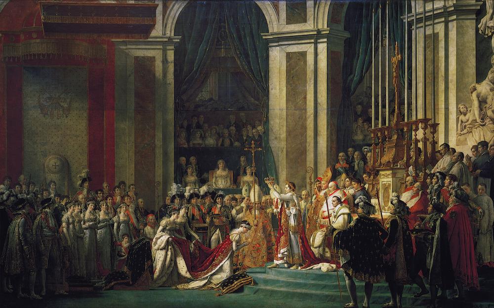Le Sacre de Napoléon Jacques Louis David musée du Louvre