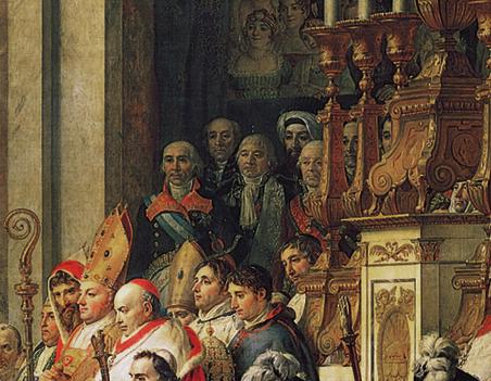 Le Sacre de Napoléon musée du Louvre detail