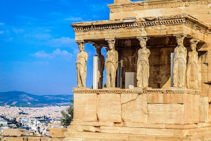 cariatides acropole athenes