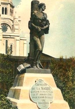 premiere statue chevalier de la barre montmartre
